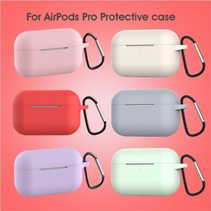 For Apple Airpod Cases Silicone Soft Ultra Thin Protector Airpod Cover Earpod Case Anti-drop Airpod pro Cases 100pcs DHL Shipping