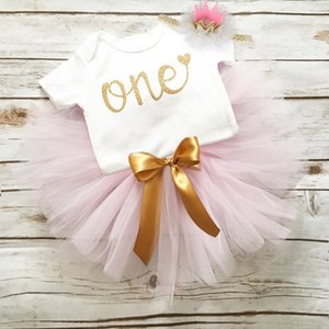 Unicorn Party Dresses For 1 Year Baby Girl Birthday Outfits Clothes Tutu Cake Smash Dresses Infant Christening Gowns 12 Months 210317