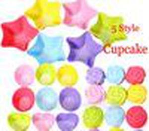 5 estilos Tin Liner Hornear Molde Molde Molde Pudín Copa de Silicona Pastel de Silicona Muffin Cupcake Case