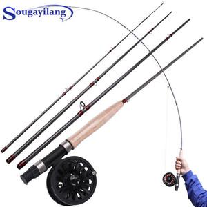SougayILang 2.7M Рыболовная удочка и катушка Combo 5/6 4 Раздел Рыболовные штанги Soft Cork Ручка стержни для пресной воды
