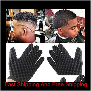 Magic Curl Hair Sponge Gloves For Barbers Wave Twist Brush Gloves Styling Tool For Curly Hair S qylUXr comecase