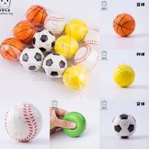 Fidget Toys Stress Relief Toy 7cm Foam Pu Ball Decompression Toy Fidget Toys Elastic Football Basketball Tennis Baseball Cheap H38CWGZ