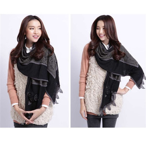 سعر خاص Nina Lulu هوك زهرة غطاء غرض مزدوج في الخريف والشتاء