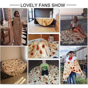 BeddingOutlet Mexican Burrito Blanket Carpet Washable Keep Warm Soft Throw Blankets Flannel air conditioner blanket in summer YHM90-1