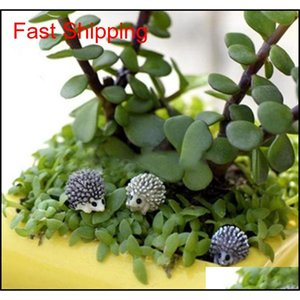 10pcs Miniature Dollhouse Bonsai Fairy Garden Landscape Hedgeh qylJoO bdenet