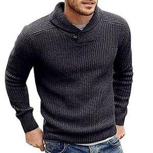 Hombres de gran tamaño suéter otoño primavera o cuello manga larga punto pulsos tops sueltos streetwear Harajuku Chic Mens Suéteres