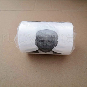 Novelty Joe Biden Toilet Paper Roll Fashion Funny Humour Gag Gifts Kitchen Bathroom Wood Pulp Tissue Printed Toilet Paper Napkins RRA4146
