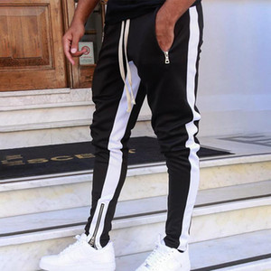 Casual Men Pants Fitness Sweatpants Men Joggers Streetwear Trousers Male Fashion Stripe Track Pants Gym Sweatpants For Me