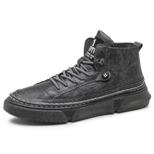 2020 Men shoes Fashion Leisure shoes Non slip rubber soft bottom Ventilation High top flat Casual shoes Four seasons Sports SG200