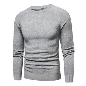 High Quality Sweater Casual Cotton Sweater Jumper Pullover Male O-Neck Knitwear Jersey Men Plus Size 5XL Black Red