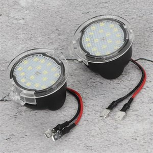 Car Headlights 2X LED Side Mirror Puddle Lights Fit For F150 Edge Explorer Expedition Strip Light Bar Turn Signal Auto