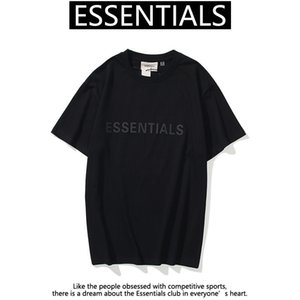 21SS INS Hot Spring Summer Hip Hop Heme Hembert Frents Essentials 3D Silicon Tee Skateboard Tshirt Niebla Hombres Mujeres Manga corta Casual Camiseta