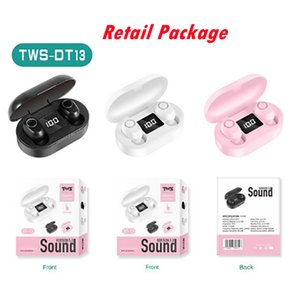 100pcs Wholesale Price DT-13 TWS Sport Wireless Earphone With BT5.0 Touch Control Noise Cancelling Stereo Sound DT13 Earbuds PK A6s inpods12