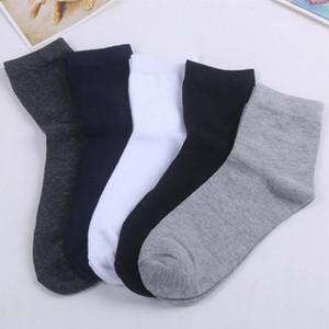 Wholesale-20 pairs lot Mens socks Gentleman's casual sock mid-length solid color wear-resistant soft men's 5 colors