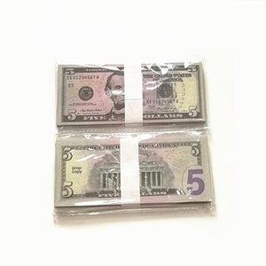 Частовая копия США Поддельные деньги Деньги игра Игрушка Игрушка или семейная игра Бумага копирования Банкнота 100 шт. / Упаковка Практика подсчета фильмов 1 доллар