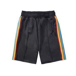Pantalones cortos para hombre Palmas de diseño Pantalones deportivos sueltos Rainbow Stripes Strays Stripstring Hombres Mujeres Mujeres Letras de verano Pantalones impresos Casual Sweetpants Angel Tamaño S-XL