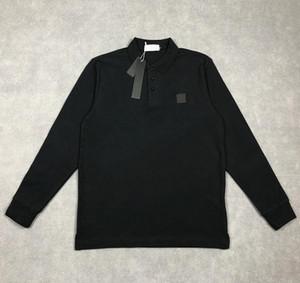 Yeni Tasarımcı erkek Polos Yüksek Kalite Nakış Pamuk T Shirt Lüks Uzun Kollu Polo Gömlek Rahat Gömlek Erkekler Giysi Tees