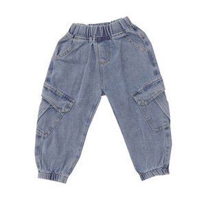 Kids Jeans Boys Jeans Girls Casual Pants Soft Denim Loose Children Trousers Spring Autumn Kids Clothes Boys Wear 2-7Y B3956