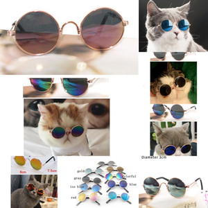 Eye Supplies 1Pcs Protection Pet Fashion Accessories Cat Toy Ultraviolet-proof Sunglasses AC Metal Reflec Glasses Windproof 2SS6M