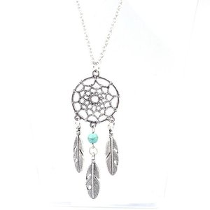 Кулон Ожерелья Богемия Этнические листья перья кисточкой цепи длинное ожерелье полый Dreamcatcher для женщин мода ювелирные изделия Kolye