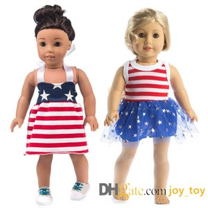 18 inç bebek etek omuz askıları ile örgü parantez etek yaz Amerikan kız bebek bezi 18 inç Amerikan kız için