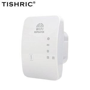 TISHRIC Wireless Wifi Repeater 2.4G 300Mbps Signal Amplifier Extender Booster Long Range Wi-fi Router 210607