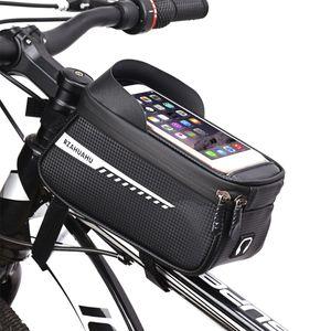 2021 Sports & Outdoors Mobile phone bag mountain road bike front beam car head bag mobile saddle bag