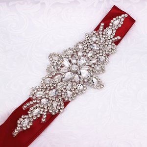 Crystal Sash Ribbon Belt Casual Evening Party Dress Waist Accessory Newest Design Rhinestone Wedding Belt For Women