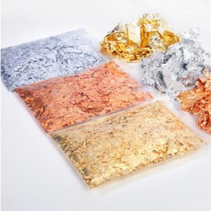 Window Stickers Metallic Leaves Flakes Glitter For Home DIY Art Decoration Accessories 3g Bag Nail Foil Silver Gold Autumn Leaf Style