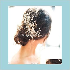 Pretty Wedding Bridal Hair Accessories Rhinestone Crystal Womens Party Head Pieces Bridal Hair Comb Events Hair Decoration Accessories Berd9