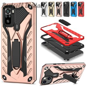 Fashion Luxury Armor Shockproof Case For Xiaomi Redmi Note 10 10S 9 9S 9A 9C 9T 8 8T 8A 7 7A 6 6A Pro Hard Stand Holder Silicon Cover