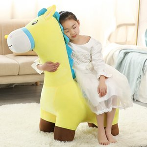Cute Animal Dinosaur Sofa Stool Doll Big Cartoon Seat Donkey Horse Plush Toy Creative Children Gift Decoration DY50938