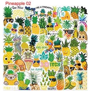 50Pcs Doodle Cute Pineapple Stickers Non-random For Car Bike Luggage Sticker Laptop Skateboard Motor Water Bottle Snowboard wall Decals Kids Gifts