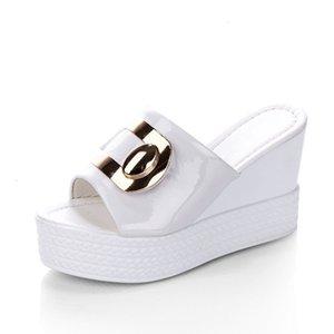 2021 Tino Kino Mulheres Metal Chinelos de Verão New Ladies Mules Moda Salto Alto Slip em Sapatos Casuais Ao Ar Livre Jiko K3ym