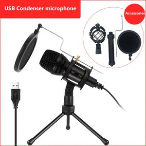 Omni USB Condenser Recording Microphone Tripod For Computer Mic Kit for PC YouTube Video Skype Chatting Gaming Recording Voice