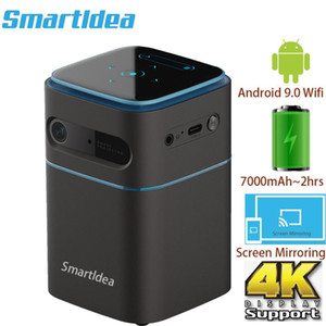 Smartldea Pico Smart Android9.0 projector Wifi 1080P 4K Support Portable proyector Mini video game DLP beamer airplay miracast