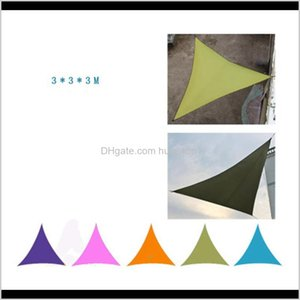 3*3*3M Sun Shelters Camping Tent Waterproof Triangle Sunshade Garden Patio Pool Shade Outdoor Canopy Sail Awning Courtyard Balcony Ijg Qnfbs
