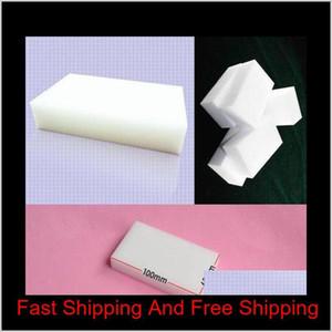 100pcs Melamine Sponge Magic Sponge Eraser Eraser Cleaner Cleaning Sponges For Kitchen Bathroom Clea qylCUh five2010