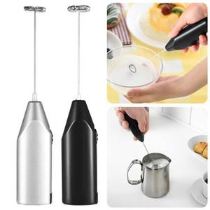 الكهربائية المحمولة الفولاذ المقاوم للصدأ حليب القهوة frother foamer شرب الكهربائية خفقت خلاط البطارية تعمل مطبخ البيض الخافق النمام
