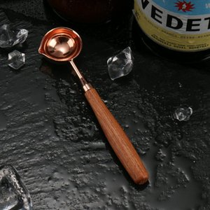 Silver Rose Gold Scellant Scellant Cire Cuillère Bois Poignée de bois Retro Cire Stamping Spoones Cartes D'invitation Timbres décoratifs Craft Wholesale DWD5025