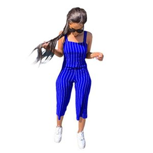 Womens Sling Sling Rampers Moda Tendencia Sexy Sports sin mangas Pantalones Sumpsuits Designer Femenino Otoño Nuevo Jumpsuit Flojo Casual