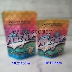 2 Tamanho Major League Exotics Bag 3.5g 7G Mylar Cheiro à prova de comprovas à prova dentária à prova de criança para embalagens de erva seca HS2021