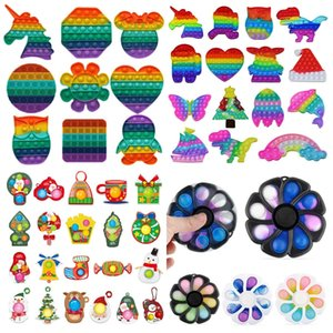 Decompression Toy halloween christmas sublimation Pop Its toys,Rainbow color,The unicorn, office,smart watch,Key chain,Adult Kids Fidget Sensory,Stress