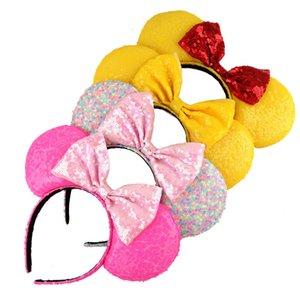 Femmes Filles Sequins Big Bur Bandeau Coiffure Accessoires de cheveux Souris Ear Coiffe Hearwear Boutique Hair Accessories7Vft