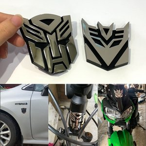 Car Styling Plastic 3D Car Stickers Cool Autobots Logo Transformers Badge Emblem Tail Decal Motorcycle bicycle Car decoration