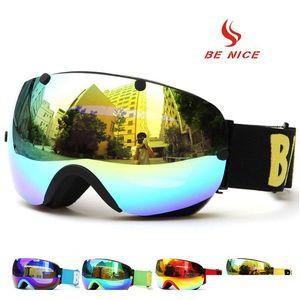 Professional Double Layers Uv400 Protection Goggles Anti-fog Big Ski Mask Glasses Skiing Men Women Snow Snowboar jllnSb xmhyard
