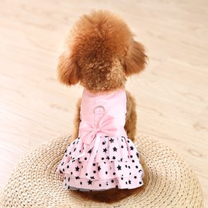 Armipet Black Star Star Modèle Summer Dog Dress Chiens Robes Princesse 6071033 Pet Rose Jupe Vêtements Fournitures XXS XS S M L XL 428 V2