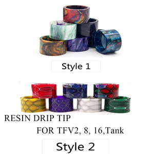 For TFV16 Drip Tips Epoxy Resin Vape Mouthpiece Atomizer Driptip Accessories Fit TFV8 BABY V2 TFV 16 King Sub Ohm 9ML Tank vaporizers