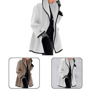 Women's Trench Coats Soft Cool Long Sleeve Woolen Coat All Match Women Loose For Adult