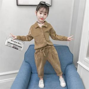 Kinderkleidung Set Mode Teen Mädchen Trainingsanzüge Herbst Frühling 2 STÜCKE Kinder Sport Anzüge 8 10 Jahre Mädchen Kleidung Größe 10 11 12 C0225